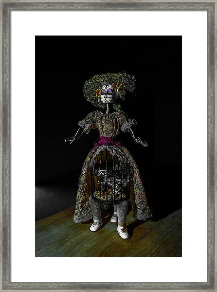 Doll With Dead Bird In New Orleans Framed Print