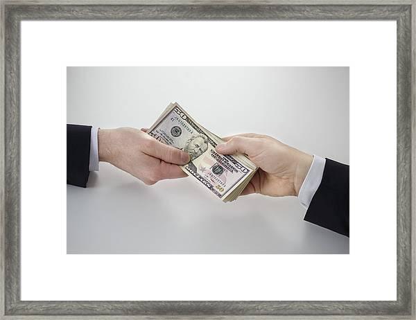 Dollar Bills Framed Print by Thomas Trutschel