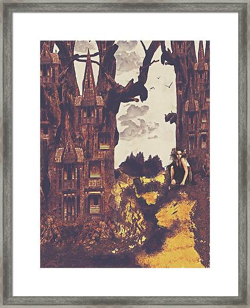 Dollhouse Forest Fantasy Framed Print