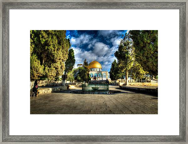 Dome Of The Rock Hdr Framed Print