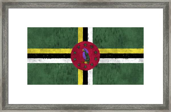 Dominica Flag Framed Print