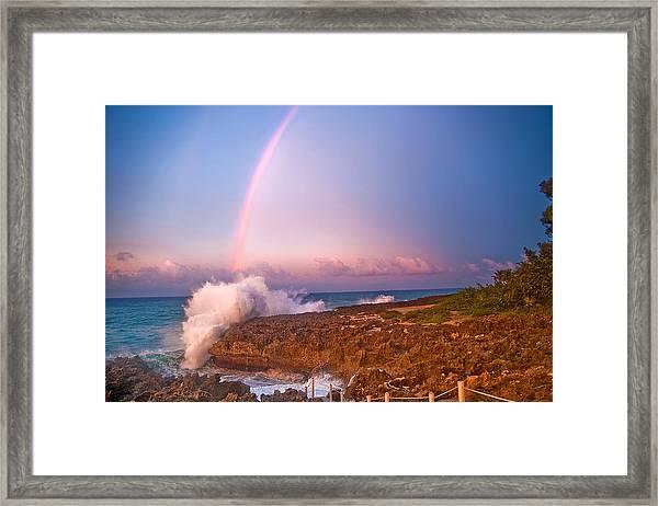 Dominican Rainbow Framed Print