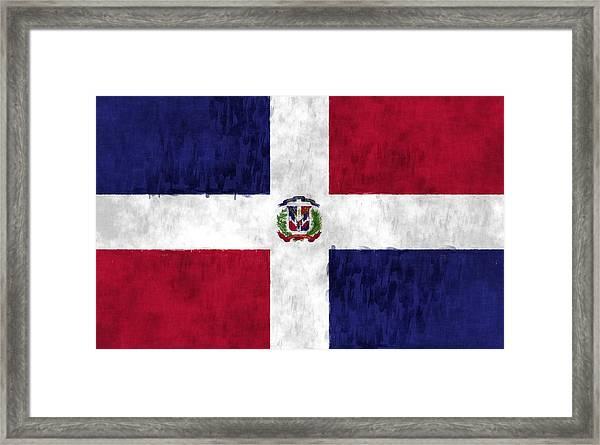 Dominican Republic Flag Framed Print