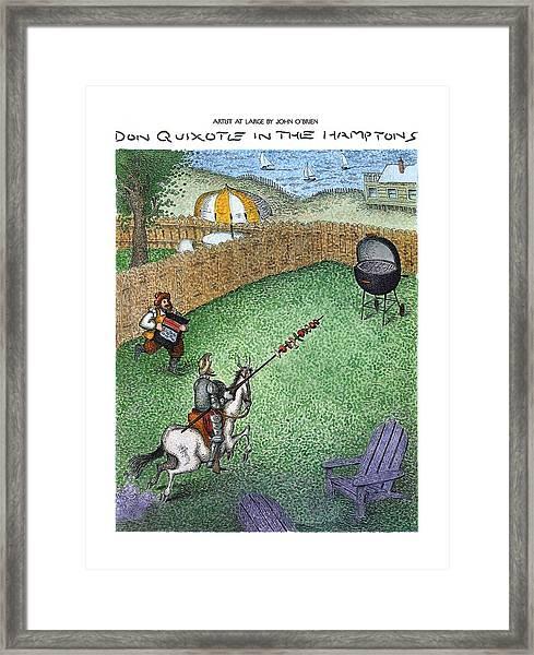 Don Quixote In The Hamptons Framed Print