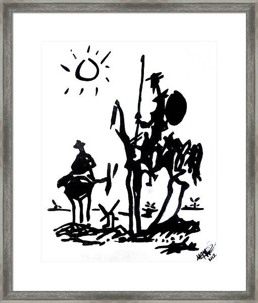 Don Quixote Framed Print