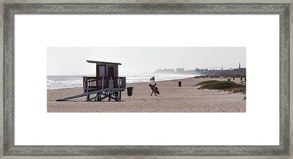 Done Surfing Framed Print