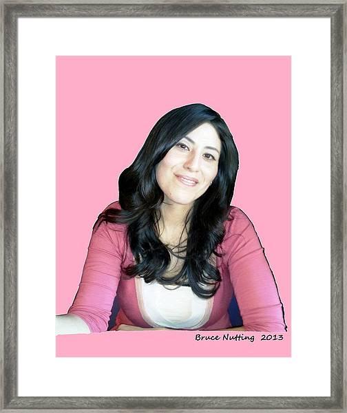 Donna In Pink Framed Print