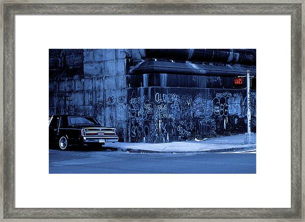Dont Walk (from The Series new York Blues) Framed Print