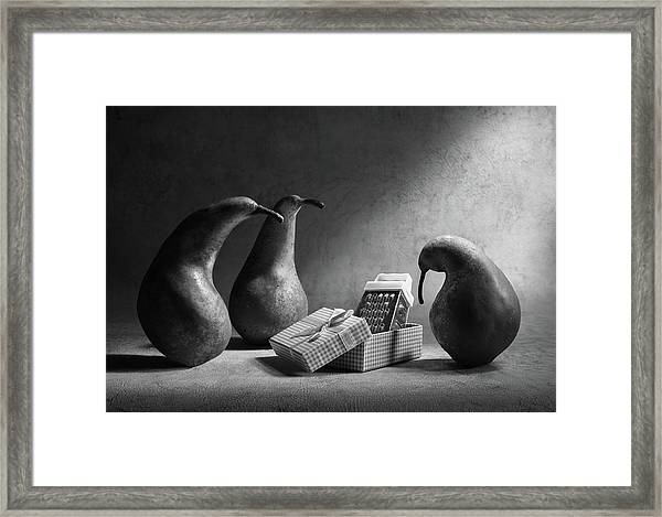 Don't You Like Our Present?! Framed Print by Victoria Ivanova