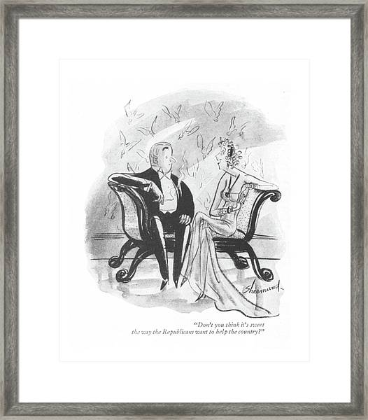 Don't You Think It's Sweet The Way Framed Print