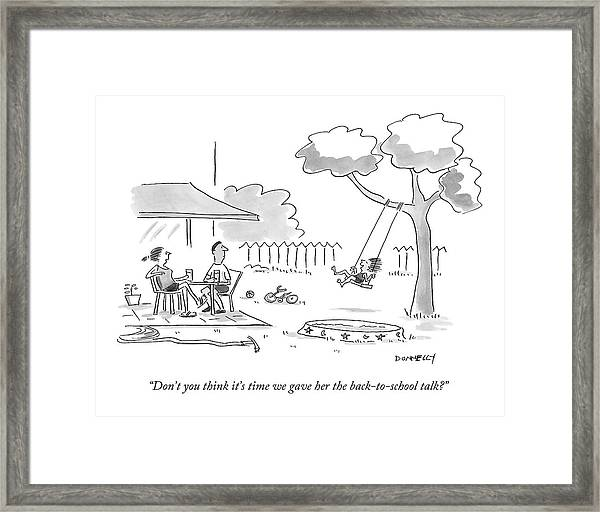 Don't You Think It's Time We Gave Framed Print