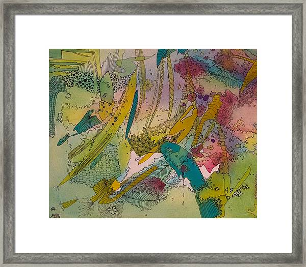 Doodles With Abstraction Framed Print