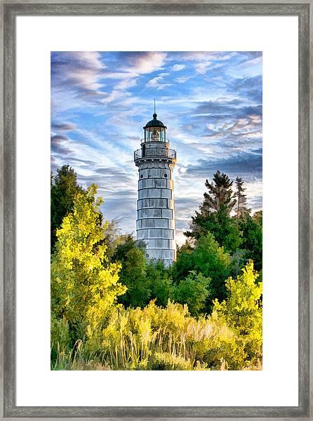 Door County Cana Island Beacon Framed Print