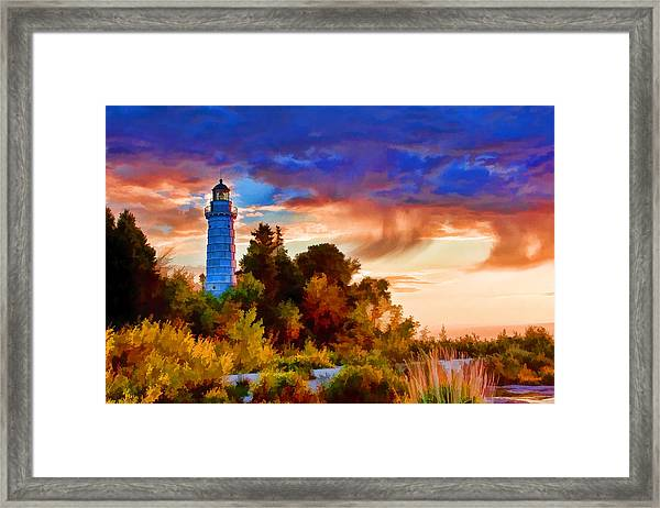Door County Cana Island Wisp Framed Print