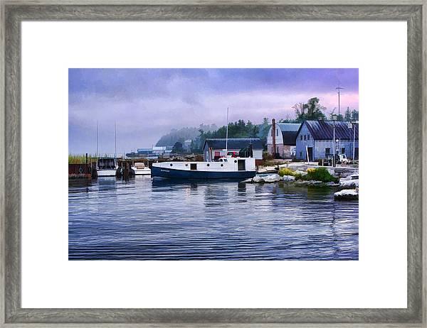 Door County Gills Rock Fishing Village Framed Print