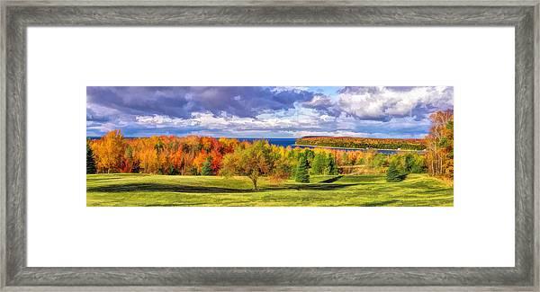 Door County Grand View Scenic Overlook Panorama Framed Print