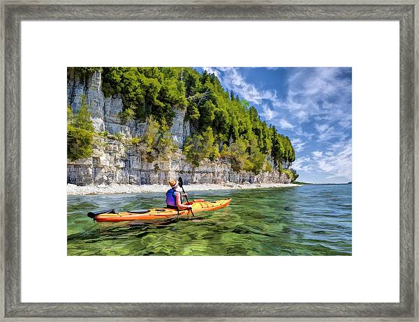 Door County Kayaking Around Rock Island State Park Framed Print