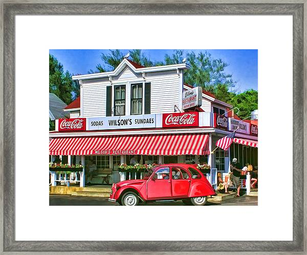 Door County Wilson's Restaurant And Ice Cream Parlor Framed Print