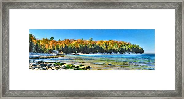 Door County Wisconsin Bay Panorama Framed Print