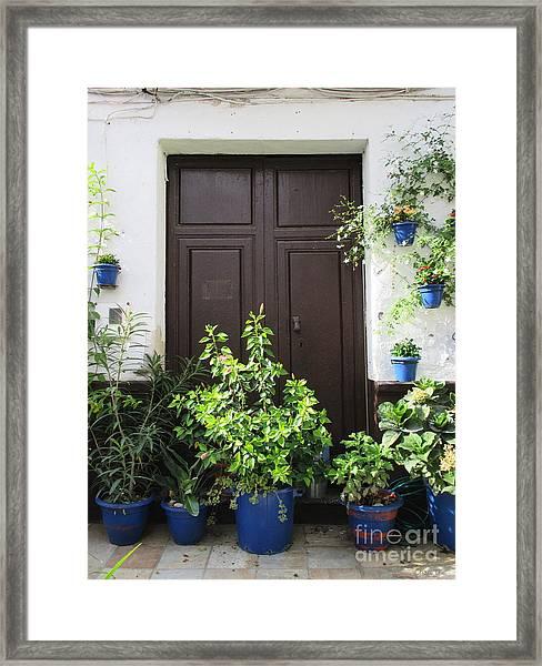 Door In Almogia Framed Print