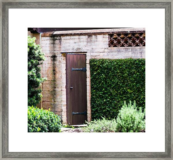 Door To The Past Framed Print