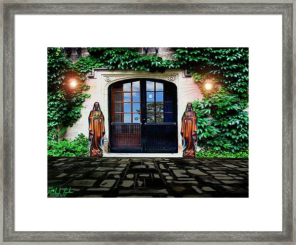 Doors Of Ivy Framed Print by Michael Rucker