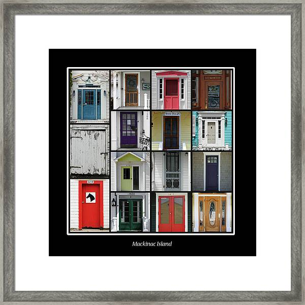 Doors Of Mackinac Island Framed Print