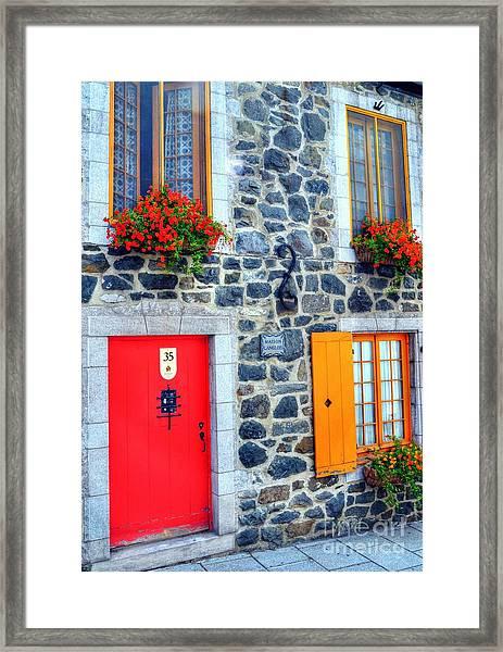Doors Of Quebec 2 Framed Print