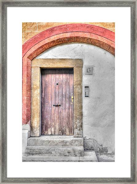 Doorway 13 Framed Print
