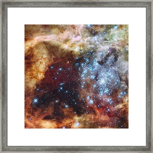 Framed Print featuring the photograph Doradus Nebula by Barry Jones