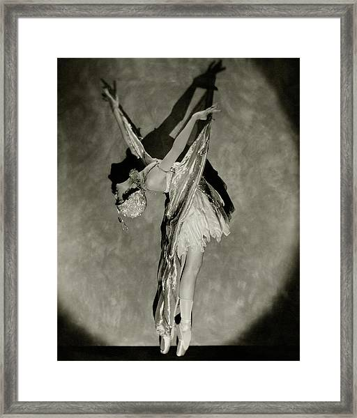 Dorothy Dilley In The Butterfly Dance Framed Print