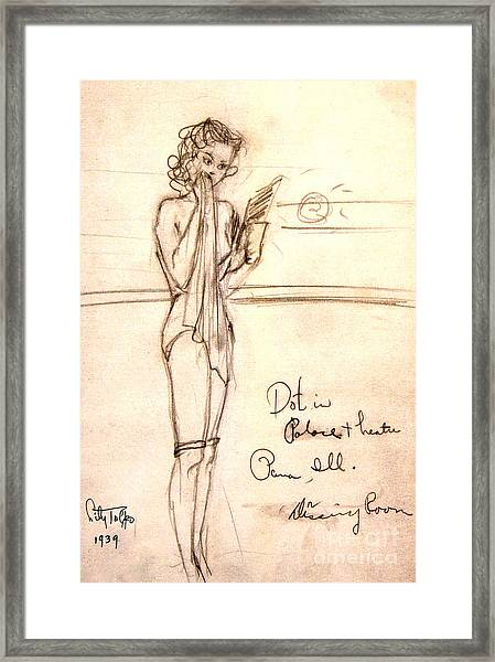 Dorothy Page In Hollywood Cowgirls' Dressing Room Framed Print