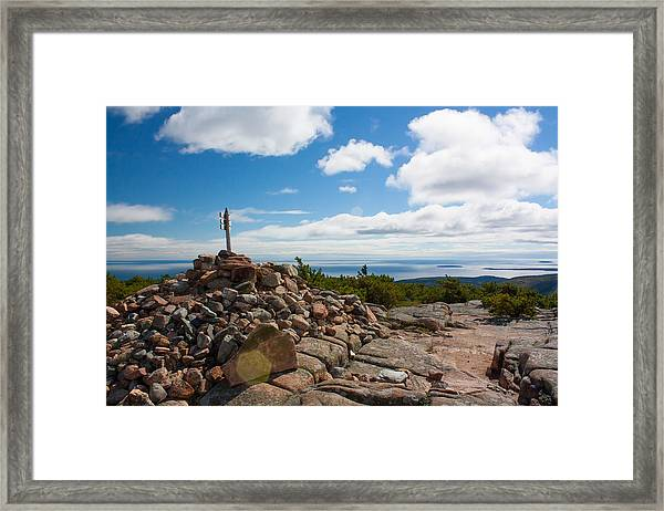 Dorr Mountain Summit - Acadia Framed Print