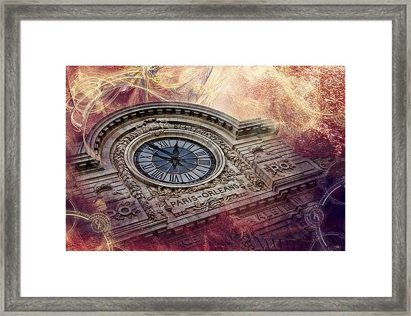 D'orsay Clock Paris Framed Print