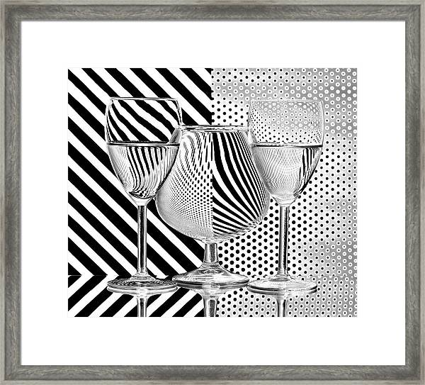 Dots And Stripes Framed Print