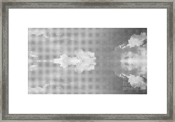 Dotted Background Texture Halftone Dots Framed Print