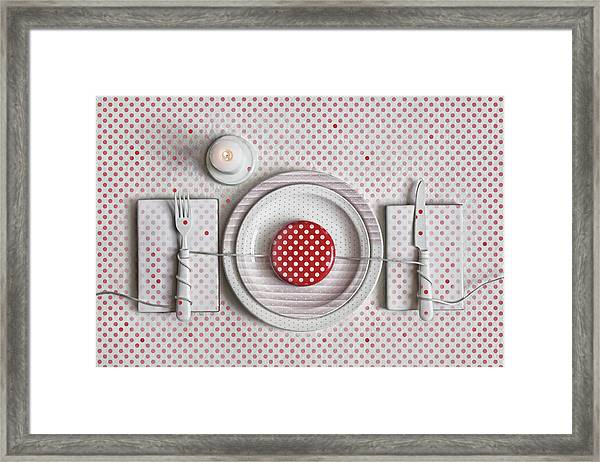 Dotted Dinner Framed Print by Dimitar Lazarov -