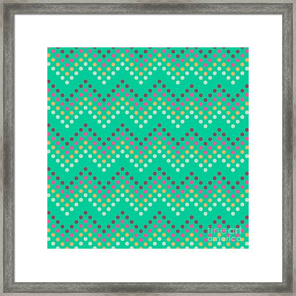 Dotted Lines Zigzag Pattern With Framed Print by Hakki Arslan