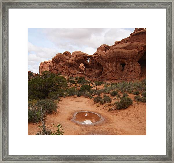 Double Arch Reflection Framed Print