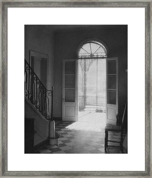 Double Doors In The Home Of Dr. Joseph Weis Framed Print