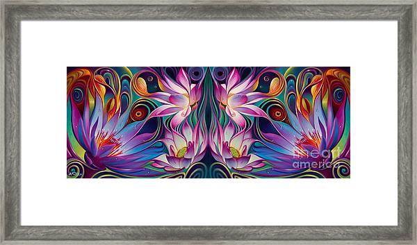 Double Floral Fantasy 2 Framed Print