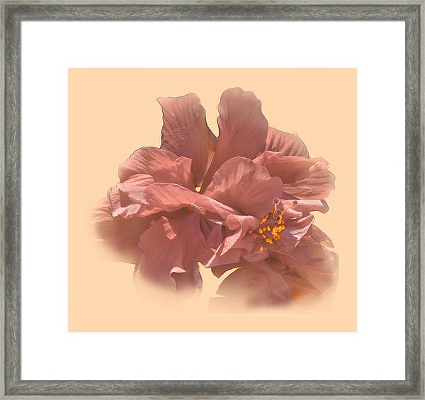 Double Hibiscus Portrait Framed Print