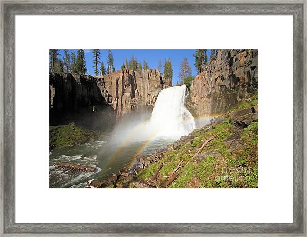 Double Rainbow Falls Framed Print