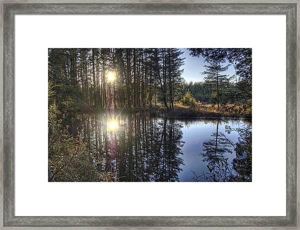 Double Sunset Batsto River Framed Print