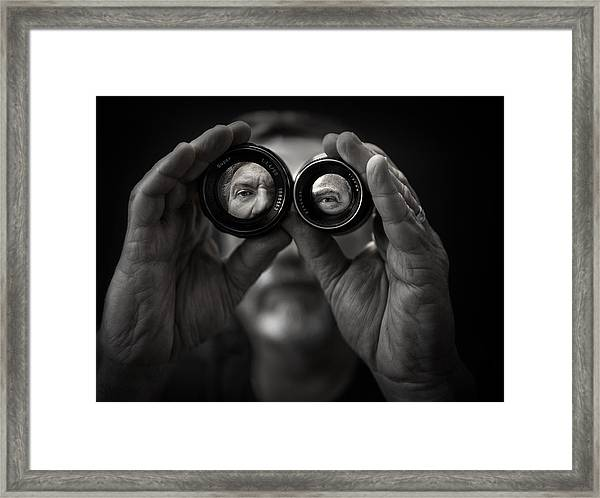 Double Vision Framed Print by Photo by marianna armata