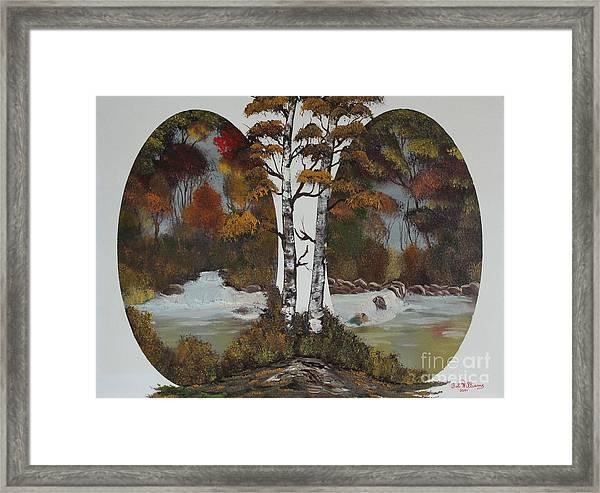 Doubling The Autumn Splendor Framed Print