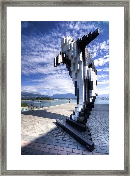 Douglas Coupland's Digital Orca Framed Print