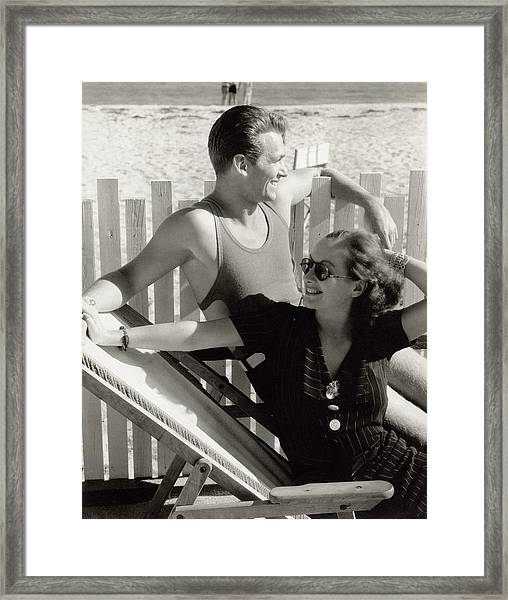 Douglas Fairbanks Jr. With Joan Crawford Framed Print