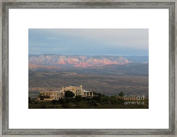 Douglas Mansion And Red Rocks Of Sedona Framed Print