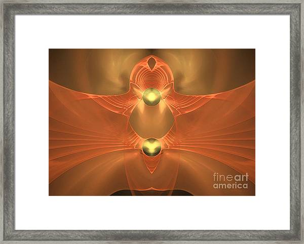 Dove In Love - Surrealism Framed Print